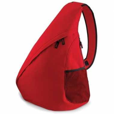 Monostrap schoudertas rood 48 cm