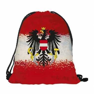 Oostenrijk rugtas met rijgkoord