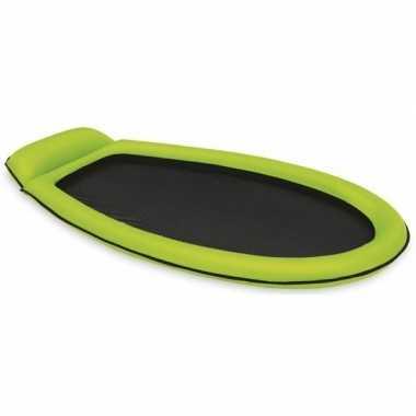 Opblaasbaar intex luchtbed/loungebed groen 178 x 94 cm