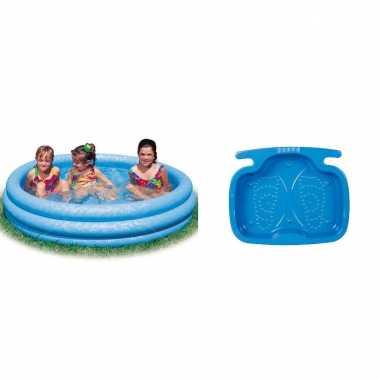 Opblaasbaar kinder zwembad 147 cm met voetenbadje