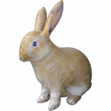 Opblaasbaar konijn haas 75 cm decoratie speelgoed