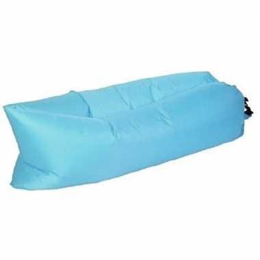 Opblaasbaar loungebed/luchtbed blauw 220 x 70 cm