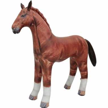 Opblaasbaar paard 75 cm decoratie/speelgoed
