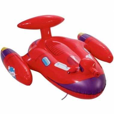 Opblaasbaar rood ruimteschip met waterpistool 109x89cm