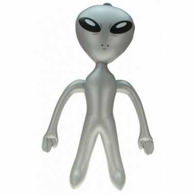 Opblaasbare alien grijs 64 cm