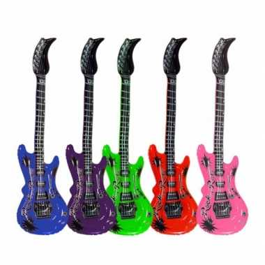 Opblaasbare blauwe elektrische gitaar