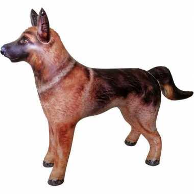 Opblaasbare duitse herdershond 75 cm decoratie/speelgoed
