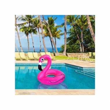 Opblaasbare flamingo xxl zwemband 120 cm