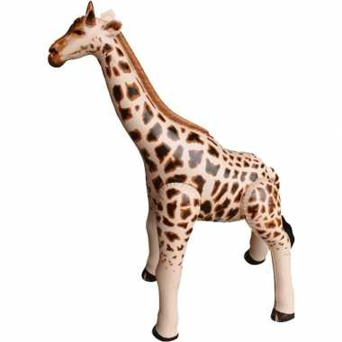 Opblaasbare giraffe 90 cm decoratie/speelgoed