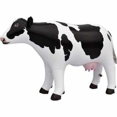 Opblaasbare koe 53 cm decoratie/speelgoed