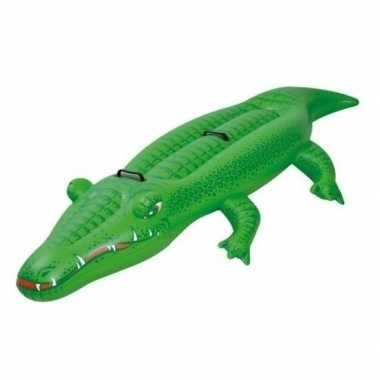 Opblaasbare krokodil 200 cm ride-on speelgoed