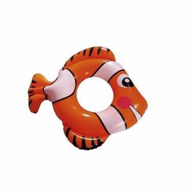 Opblaasbare oranje vis zwemband 80 cm