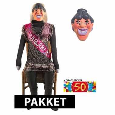 Opblaasbare sarah pop en masker