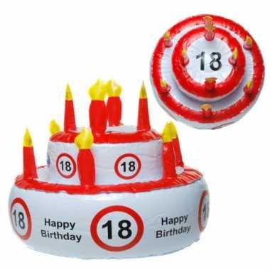 Opblaasbare verjaardagstaart 18 jaar