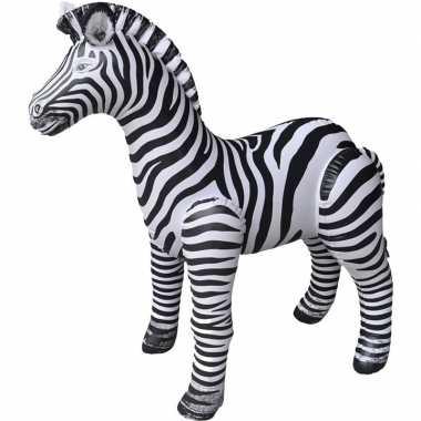 Opblaasbare zebra 140 cm decoratie speelgoed