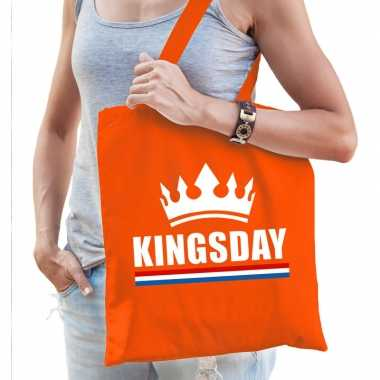 Oranje kingsday / kroon tasje voor dames
