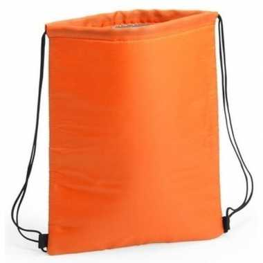 Oranje koeltas rugzak 32 x 42 cm