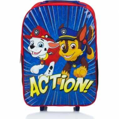 Paw patrol handbagage reiskoffer/trolley 42 cm voor kinderen