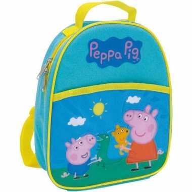 Peppa pig/big school rugtas/rugzak 25 cm voor peuters/kleuters/kinderen