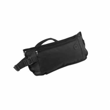 Plat money belt heuptasje zwart