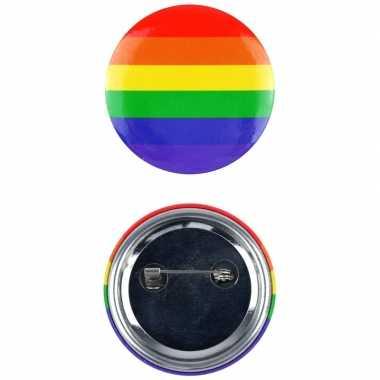 Regenboog pride kleuren mini tas pin/broche 2 cm