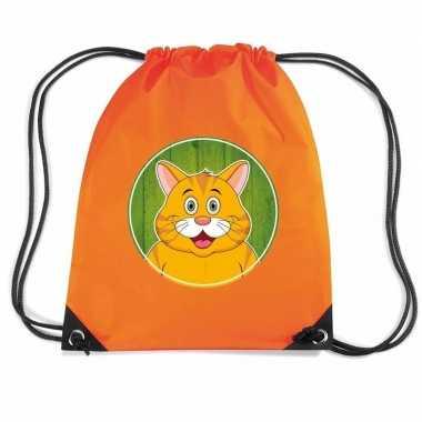 Rode katten poes rugtas gymtas oranje voor kinderen