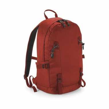 Rode rugzak/rugtas voor wandelaars/backpackers 20 liter