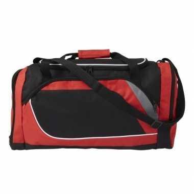 Rood met zwarte sporttas/reistas 45 liter