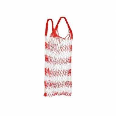 Rood strand draagnet / strandtas 75 cm