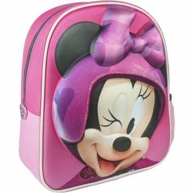 Roze minnie mouse rugtas rugzak 25 x 31 cm voor meisjes