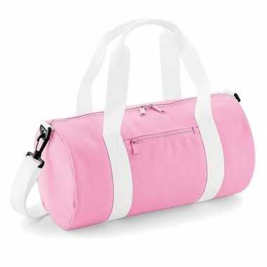 Roze sporttas/weekendtas 12 liter voor meisjes