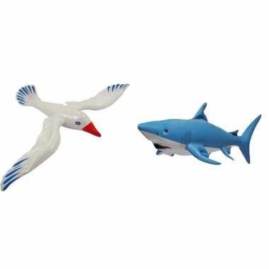 Set van 2 opblaasbare maritiem decoratie zeedieren type 2