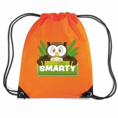 Smarty de uil rugtas / gymtas oranje voor kinderen