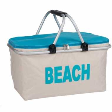 Strand koeltas blauw 48 cm
