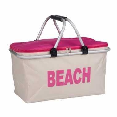 Strand koeltas roze 48 cm