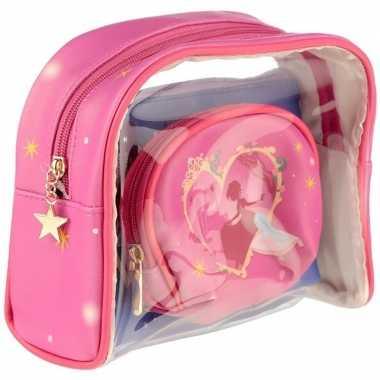 Toilettas/make-up tassen set prinses voor kinderen