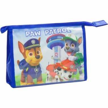 Toilettas paw patrol blauw 21 5 cm voor kinderen