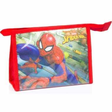 Toilettas spiderman rood 21 5 cm voor kinderen