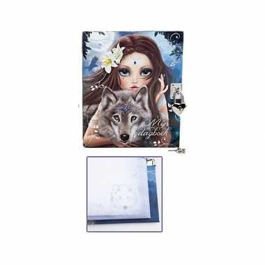 Topmodel fantasy dagboek met slotje type 2