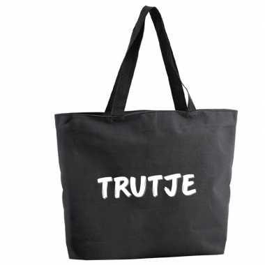 Trutje shopper tas zwart 47 cm