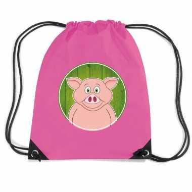Varkens rugtas gymtas voor kinderen