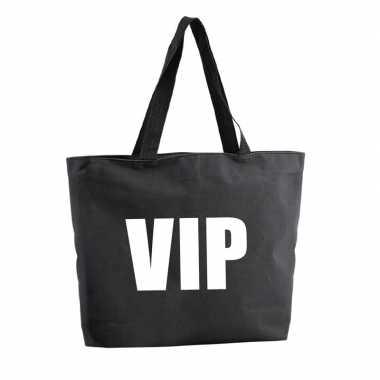 Vip shopper tas zwart 47 cm
