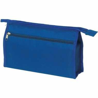 Voordelige toilettas blauw 28 cm voor heren/dames