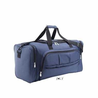 Weekendtas donker blauw 62 cm