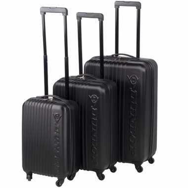 Zwarte dunlop reiskoffer 56 cm