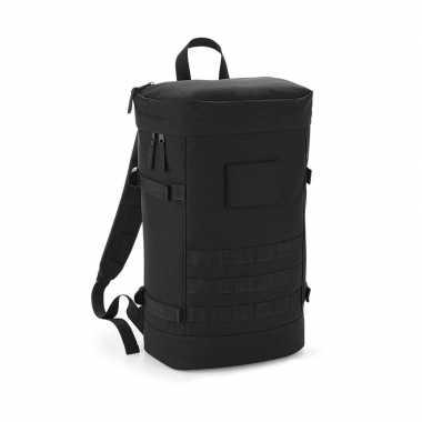 Zwarte rugzak rugtas 21 liter voor volwassenen