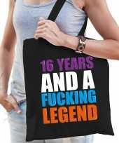 16 year legend 16 jaar legende cadeau tas zwart voor dames