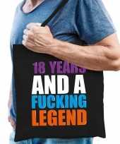 18 year legend 18 jaar legende cadeau tas zwart voor heren