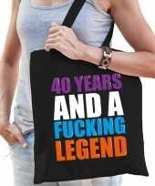 40 year legend 40 jaar legende cadeau tas zwart voor dames