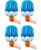 4x stuks opblaasbaar ijsje 50 cm